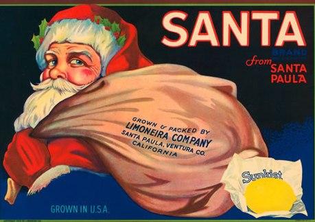 SANTA fruit label