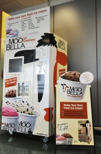 Make-your-own sundae machine at Boston Logan Airport