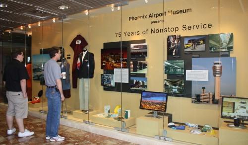 History exhibit at Phoenix Sky Harbor
