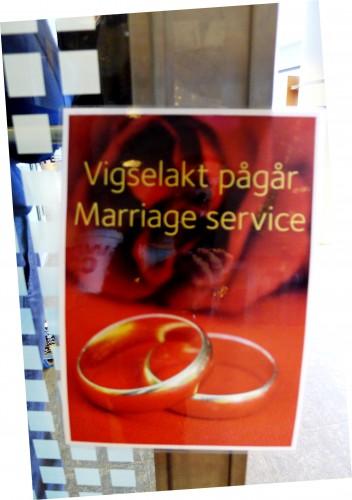 marriage ceremony at Stockholm Arlanda