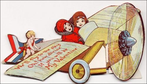 Charles Lindbergh-themed Valentine