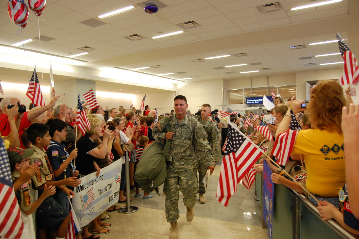 welcome home a hero program ending at dfw