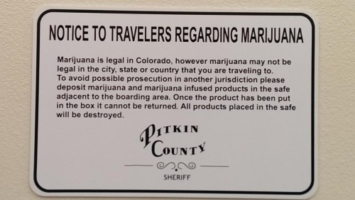 POT SIGN at the Airport