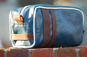 Skyebags made from recycled aircraft leather donated by Delta Air Lines
