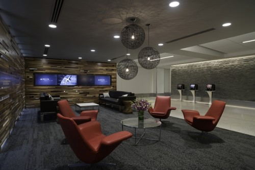 The lounge area of Delta One at LAX. -