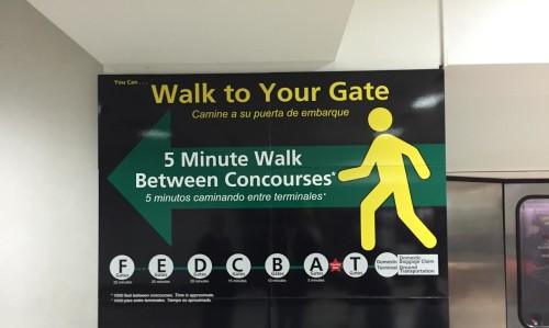 ATL SIGN WALK TO GATE