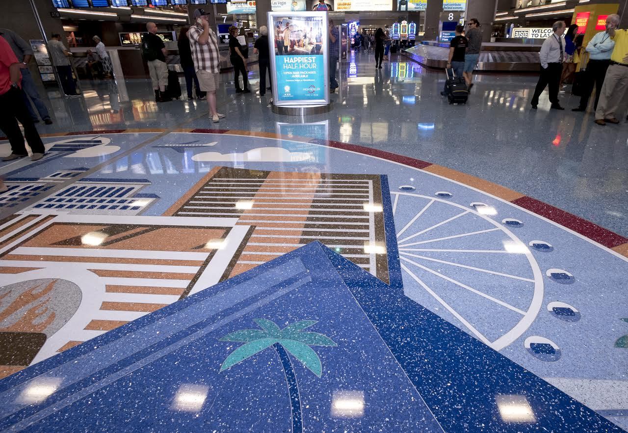Look down: airports showing off their floors and their socks