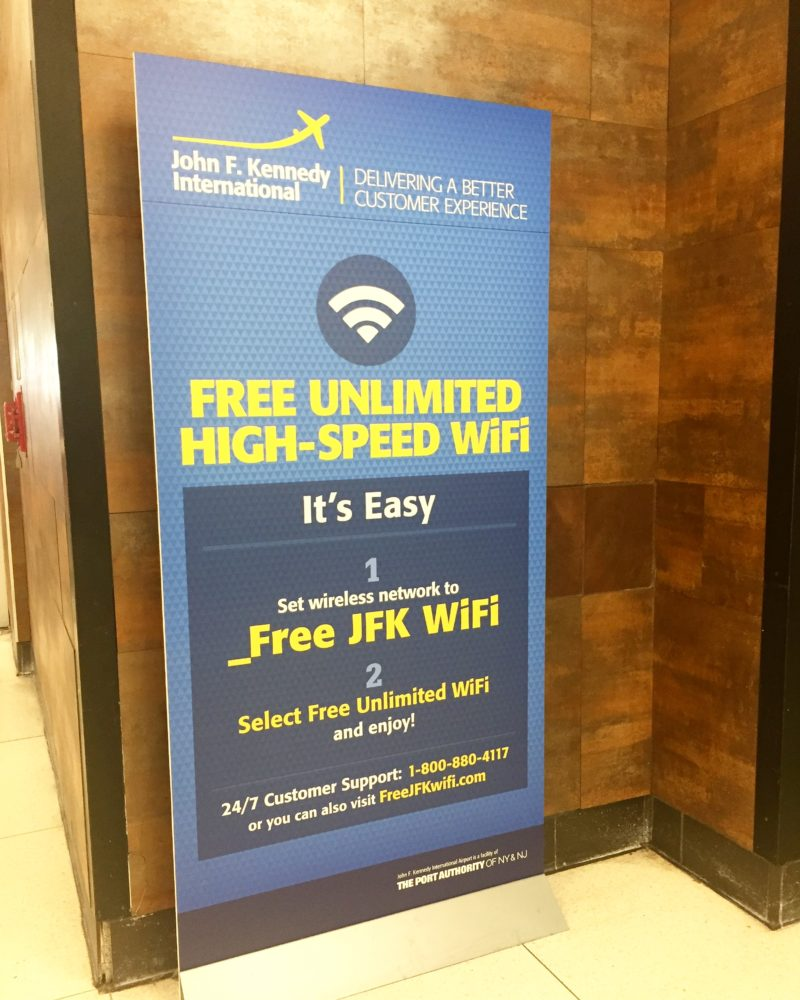Improved, free Wi-Fi for LGA, JFK, EWR Airports