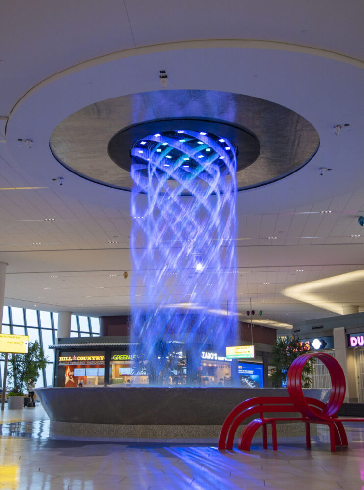 LaGuardia Airport has a cool new water show